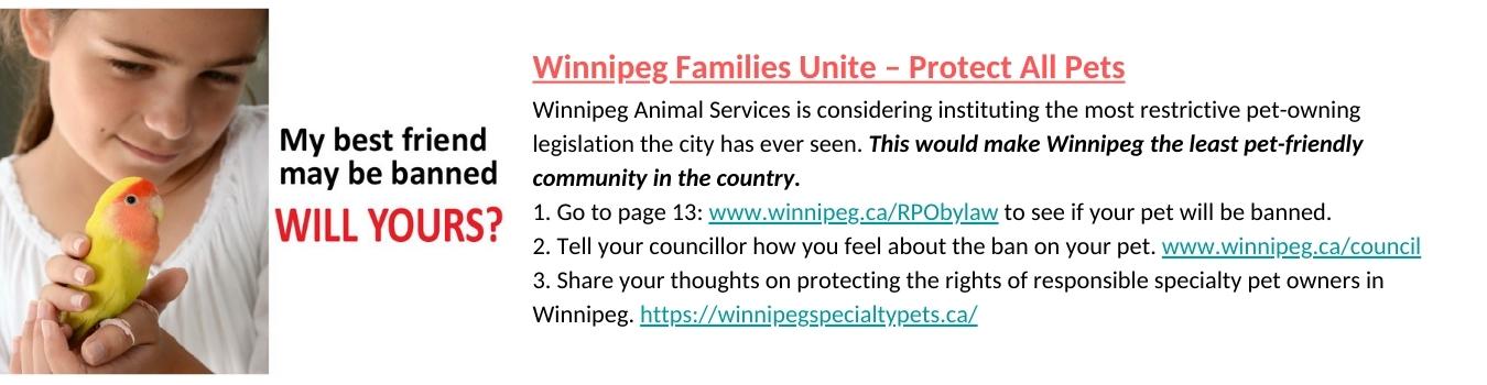 Winnipeg Families Unite – Protect All Pets