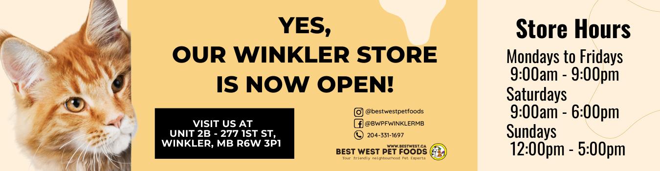Winkler store is now open