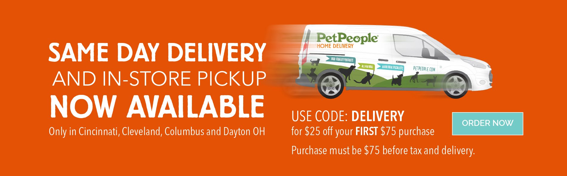 Now Delivering!