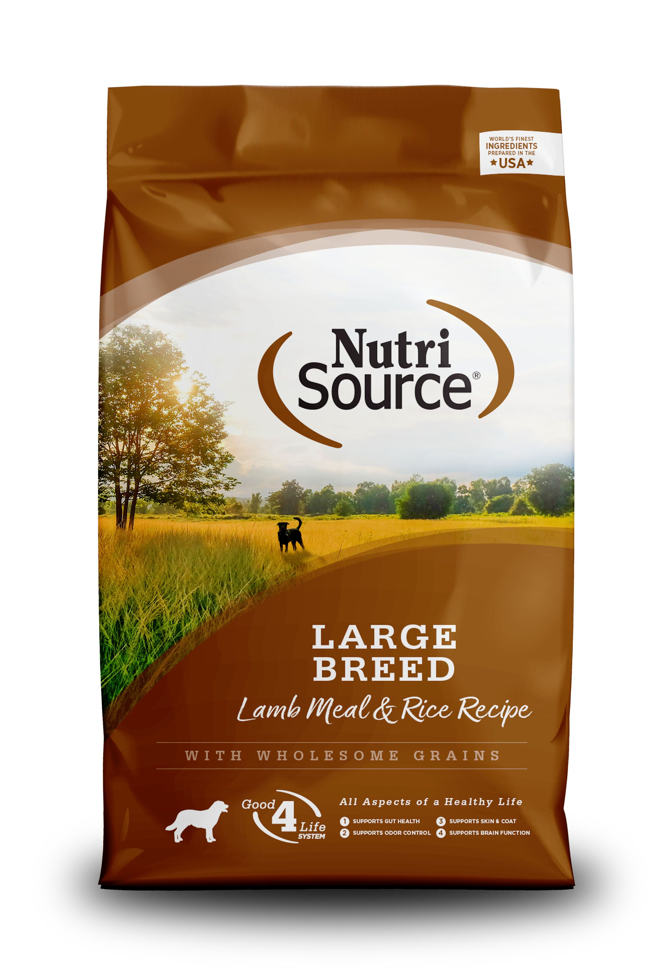 NutriSource Large Breed Adult Lamb and Rice Dry Dog Food, 30-lb (Size: 30-lb) Image