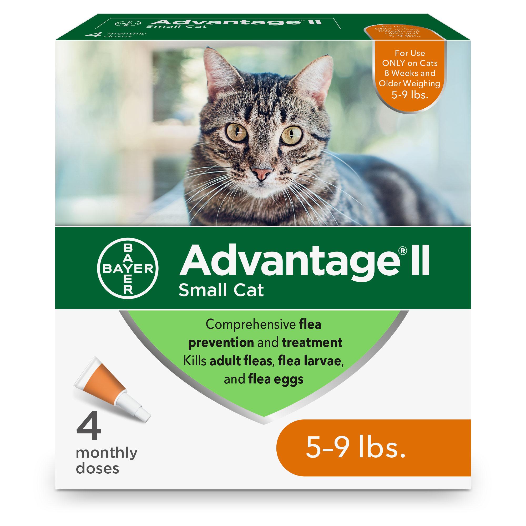 Advantage II Flea Treatment for Small Cats 5-lb to 9-lb, 4-pack
