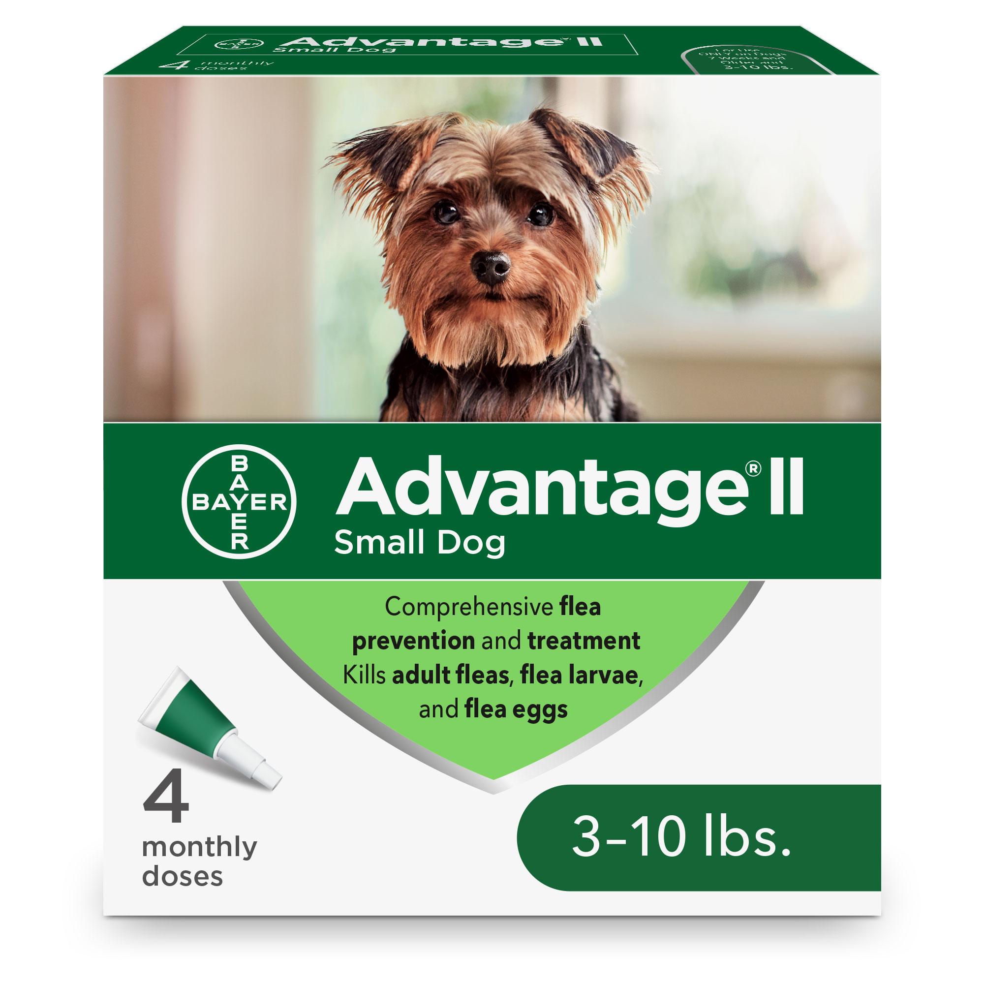 Advantage II Flea Treatment for Small Dogs 3-10-lb, 4-pack