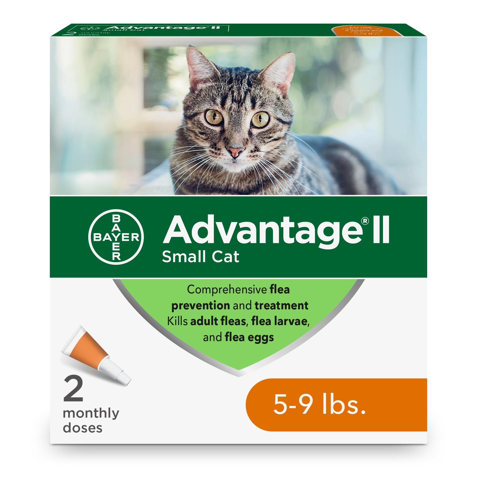 Advantage II Flea Treatment for Small Cats 5-lb to 9-lb, 2-Pack