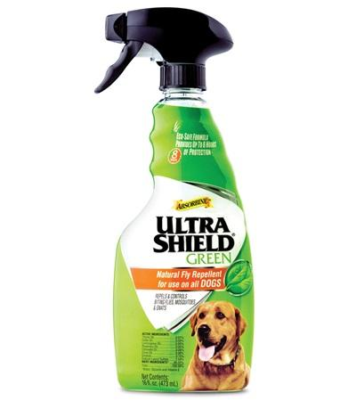Absorbine UltraShield Green Natural Fly Repellent for Dogs, 16-oz