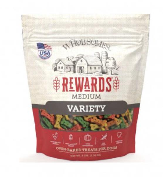 Sportmix Wholesomes Gourmet Rewards Biscuit Variety Medium Dog Treats, 3-lb