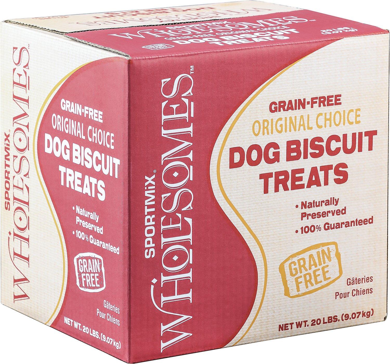 SPORTMiX Wholesomes Grain-Free Medium Golden Biscuit Dog Treats, 20-lb