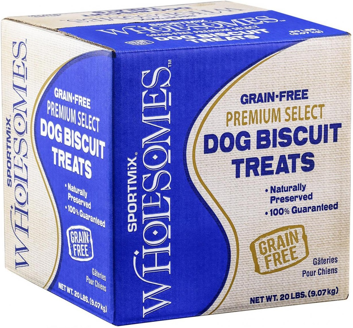 SPORTMiX Wholesomes Grain-Free Premium Medium Gourmet Biscuit with Natural Bone Charcoal & Mint Flavor Dog Treats, 20-lb