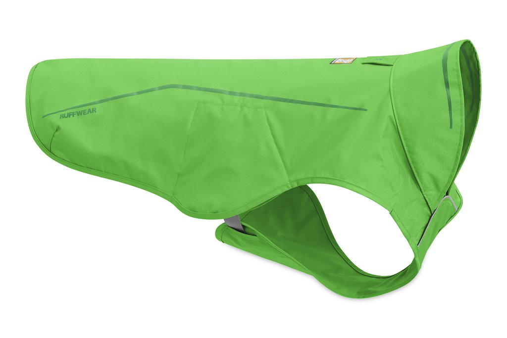 Ruffwear Sun Shower Dog Raincoat, Meadow Green, X-Small
