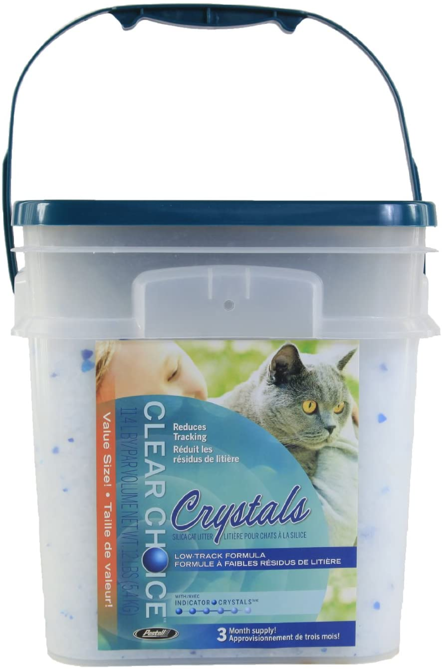 Clear Choice Silica Crystals Cat Litter Pail, 12-lb