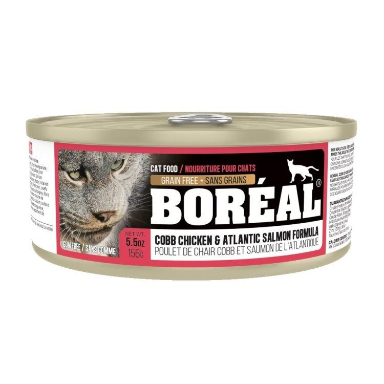 Boreal Cobb Chicken and Atlantic Salmon Grain-Free Canned Cat Food, 156g can
