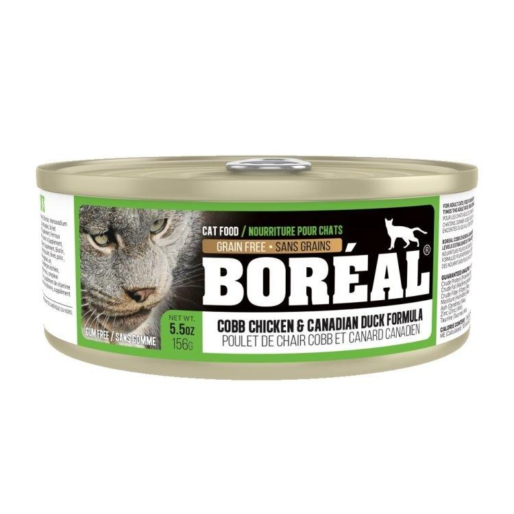 Boreal Cobb Chicken and Canadian Duck Grain-Free Canned Cat Food, 369g can