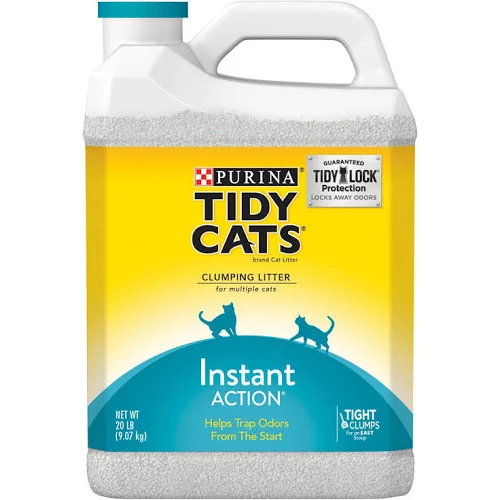 Tidy Cats Clumping Cat Litter Instant Action Immediate Odor Control for Multiple Cats, 20-lb jug