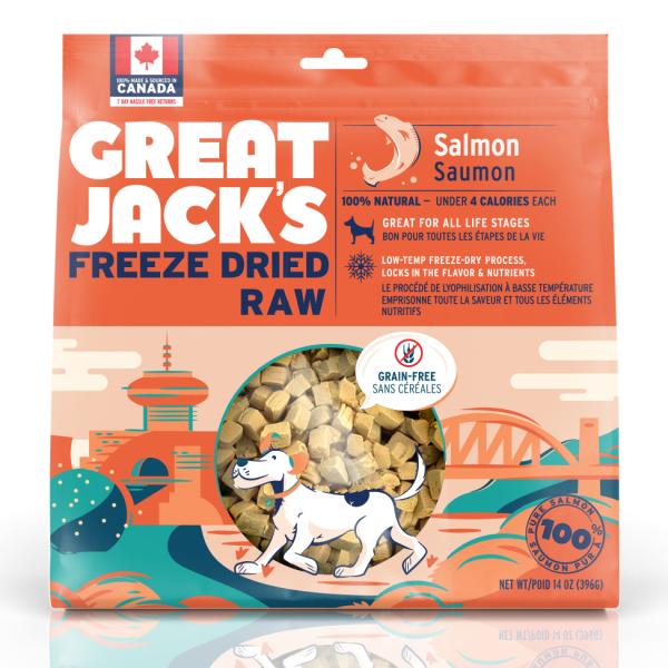 Great Jack's Salmon Grain-Free Freeze-Dried Dog Treats, 396-gram
