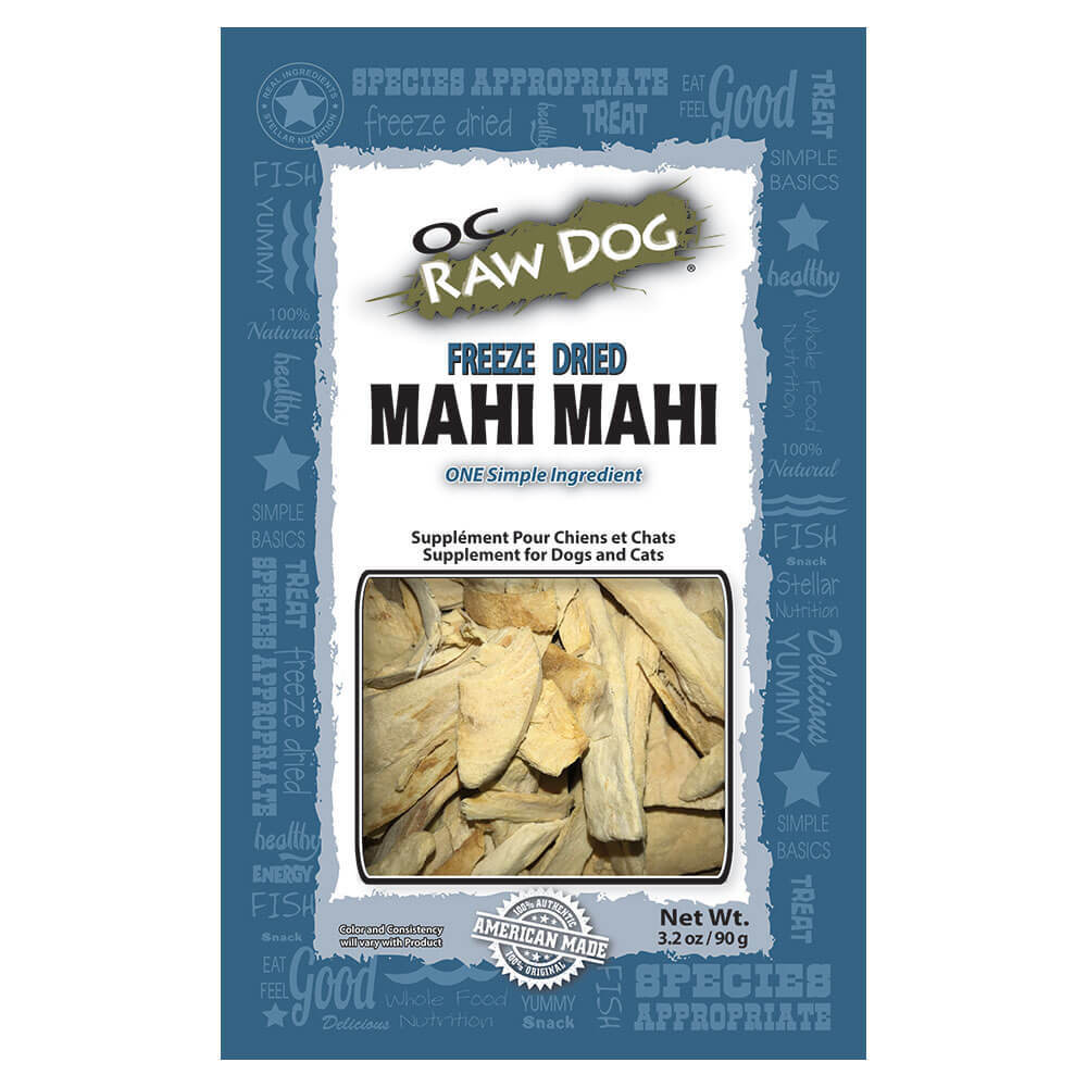 OC Raw Dog Mahi Mahi Freeze-Dried Treats, 3.2-oz