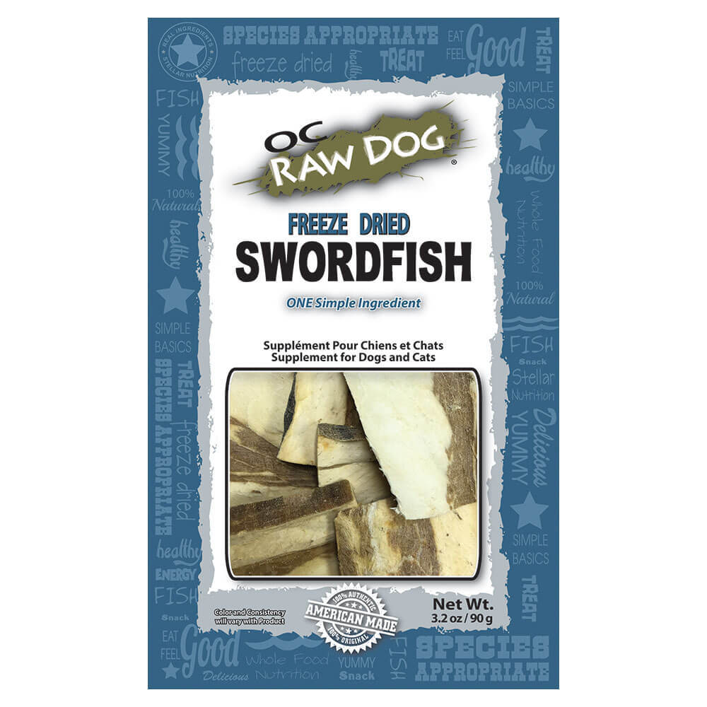 OC Raw Dog Swordfish Freeze-Dried Treats, 3.2-oz
