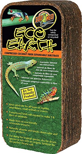 Zoo Med Eco Earth Compressed Coconut Fiber Expandable Reptile Substrate, 1 count