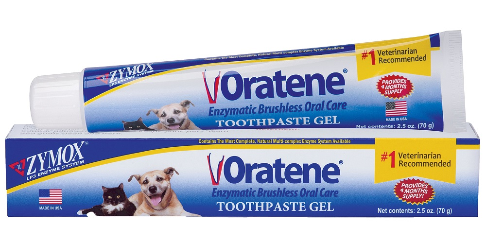 Oratene Brushless Enzymatic Toothpaste Gel for Dogs & Cats, 2.5-oz