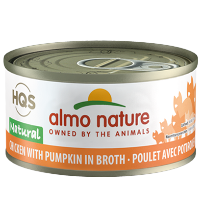 Almo Nature HQS Natural Chicken with Pumpkin in Broth Adult Grain-Free Wet Cat Food Image
