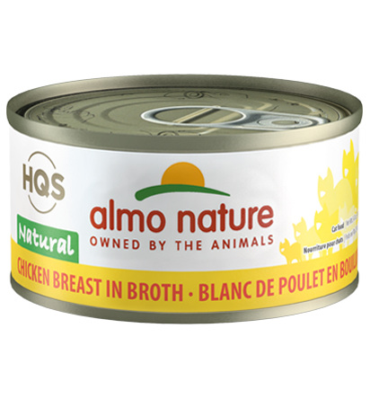 Almo Nature HQS Natural Chicken Breast in Broth Adult Grain-Free Wet Cat Food Image