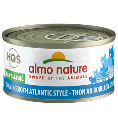 Almo Nature HQS Natural Tuna in Broth Atlantic Style Adult Grain-Free Wet Cat Food Image