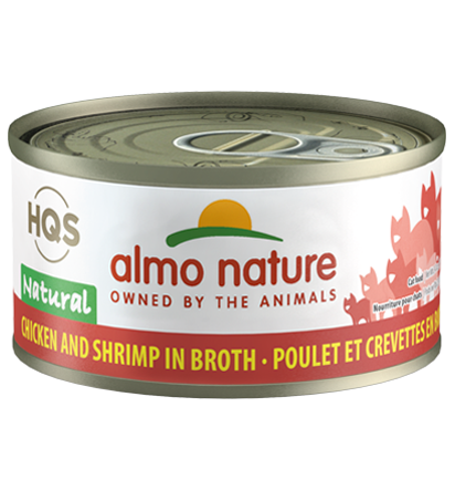Almo Nature HQS Natural Chicken & Shrimp in Broth Adult Grain-Free Wet Cat Food, 2.47-oz