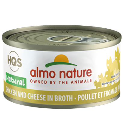 Almo Nature HQS Natural Chicken & Cheese in Broth Adult Grain-Free Wet Cat Food, 2.47-oz