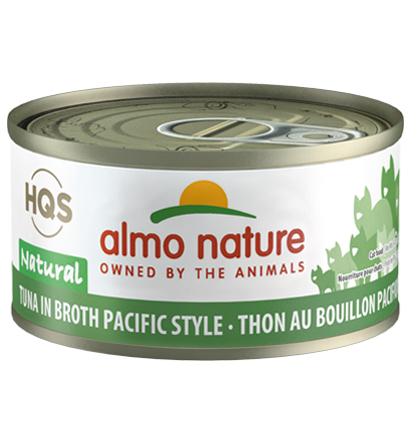 Almo Nature HQS Natural Tuna in Broth Pacific Style Adult Grain-Free Wet Cat Food, 2.47-oz