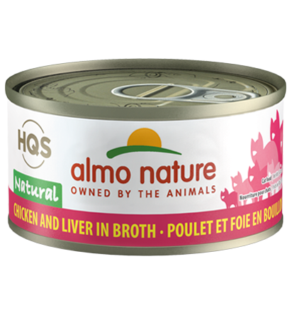 Almo Nature Legend 100% Natural Chicken and Liver Adult Grain-Free Wet Cat Food, 2.47-oz