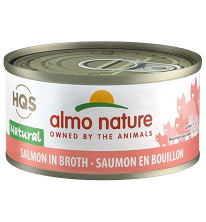 Almo Nature HQS Natural Salmon in Broth Adult Grain-Free Wet Cat Food Image