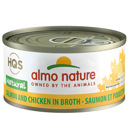 Almo Nature HQS Natural Salmon & Chicken in Broth Adult Grain-Free Wet Cat Food Image