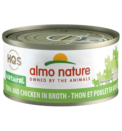 Almo Nature HQS Natural Tuna & Chicken in Broth Adult Grain-Free Wet Cat Food Image