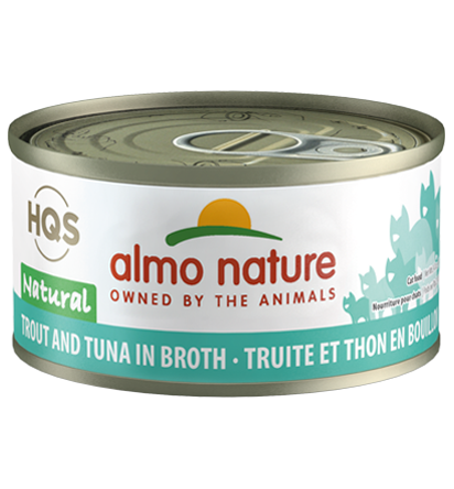 Almo Nature HQS Natural Trout & Tuna in Broth Adult Grain-Free Wet Cat Food Image