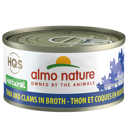 Almo Nature HQS Natural Tuna & Clams in Broth Adult Grain-Free Wet Cat Food, 2.47-oz