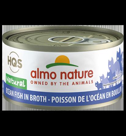 Almo Nature HQS Natural Ocean Fish in Broth Adult Grain-Free Wet Cat Food, 2.47-oz, case of 24