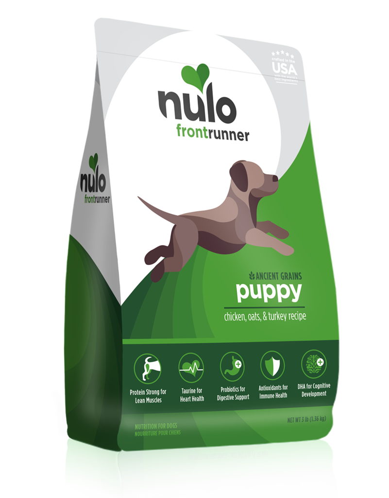 Nulo Frontrunner Ancient Grains Chicken, Oats, & Turkey Puppy Dry Dog Food, 3-lb