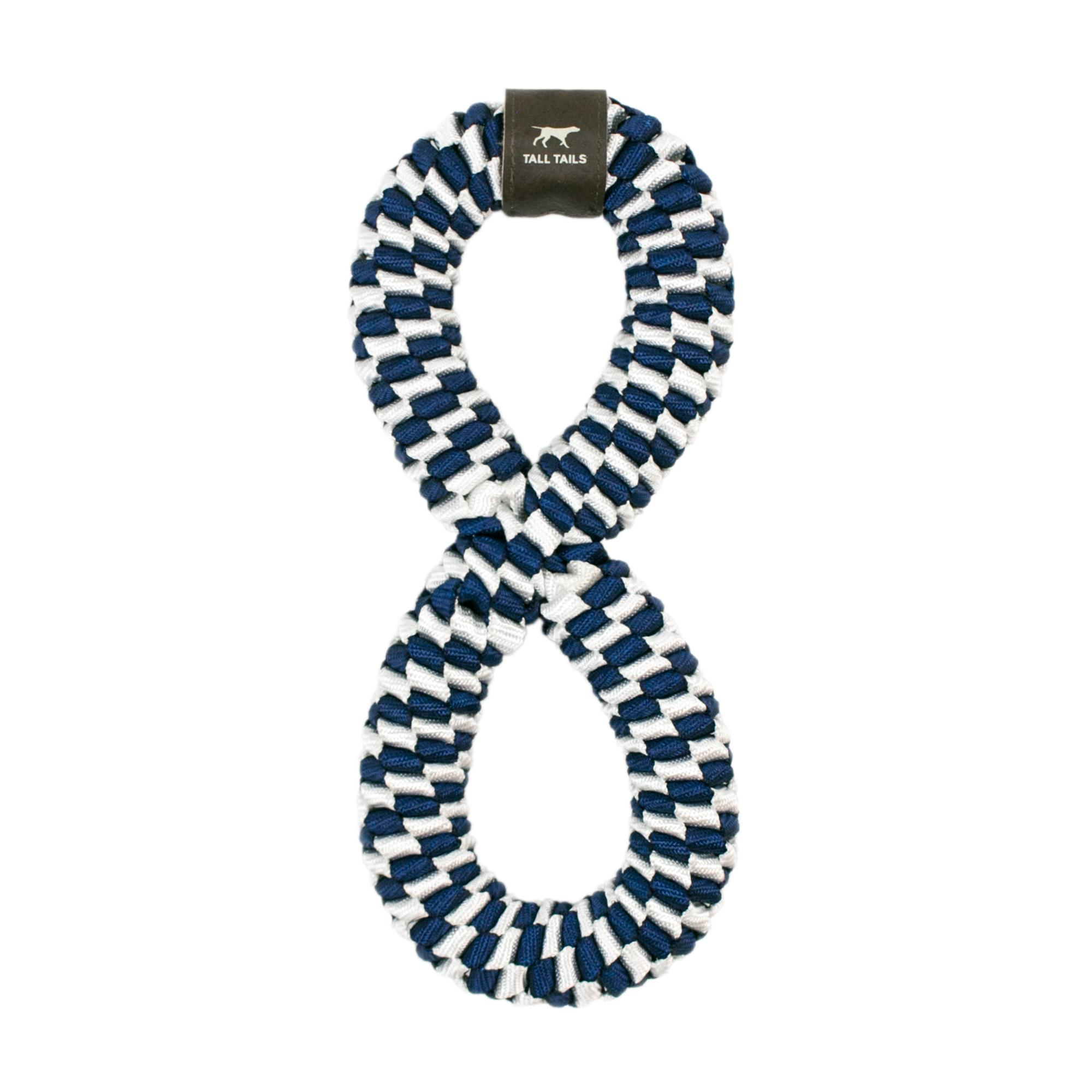 Tall Tails Braided Infinity Tug Dog Toy, Navy, 11-in.