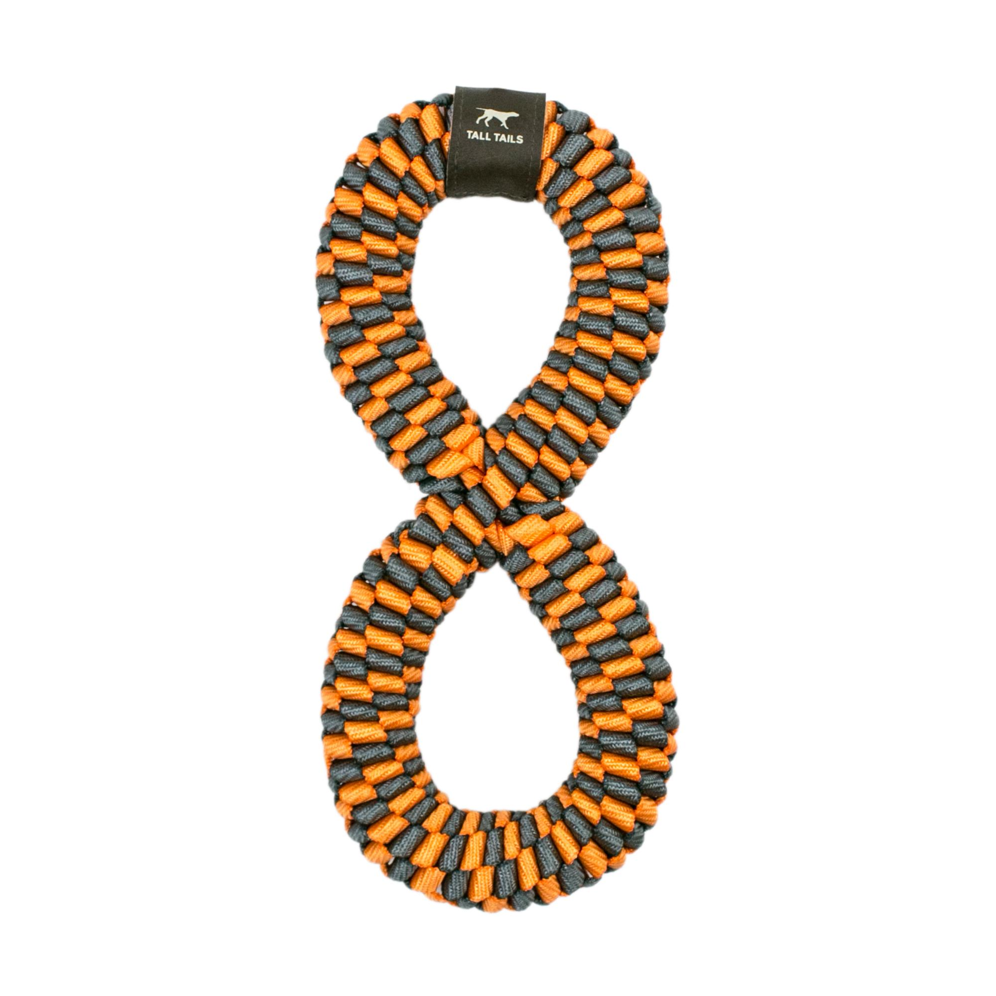 Tall Tails Braided Infinity Tug Dog Toy,  Orange, 11-in