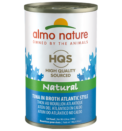 Almo Nature HQS Natural Tuna in Broth Atlantic Style Adult Grain-Free Wet Cat Food, 4.94-oz