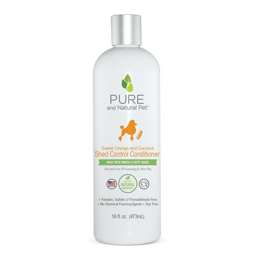 Pure and Natural Pet Sweet Orange & Coconut Shed Control Conditioner for Dogs, 16-oz