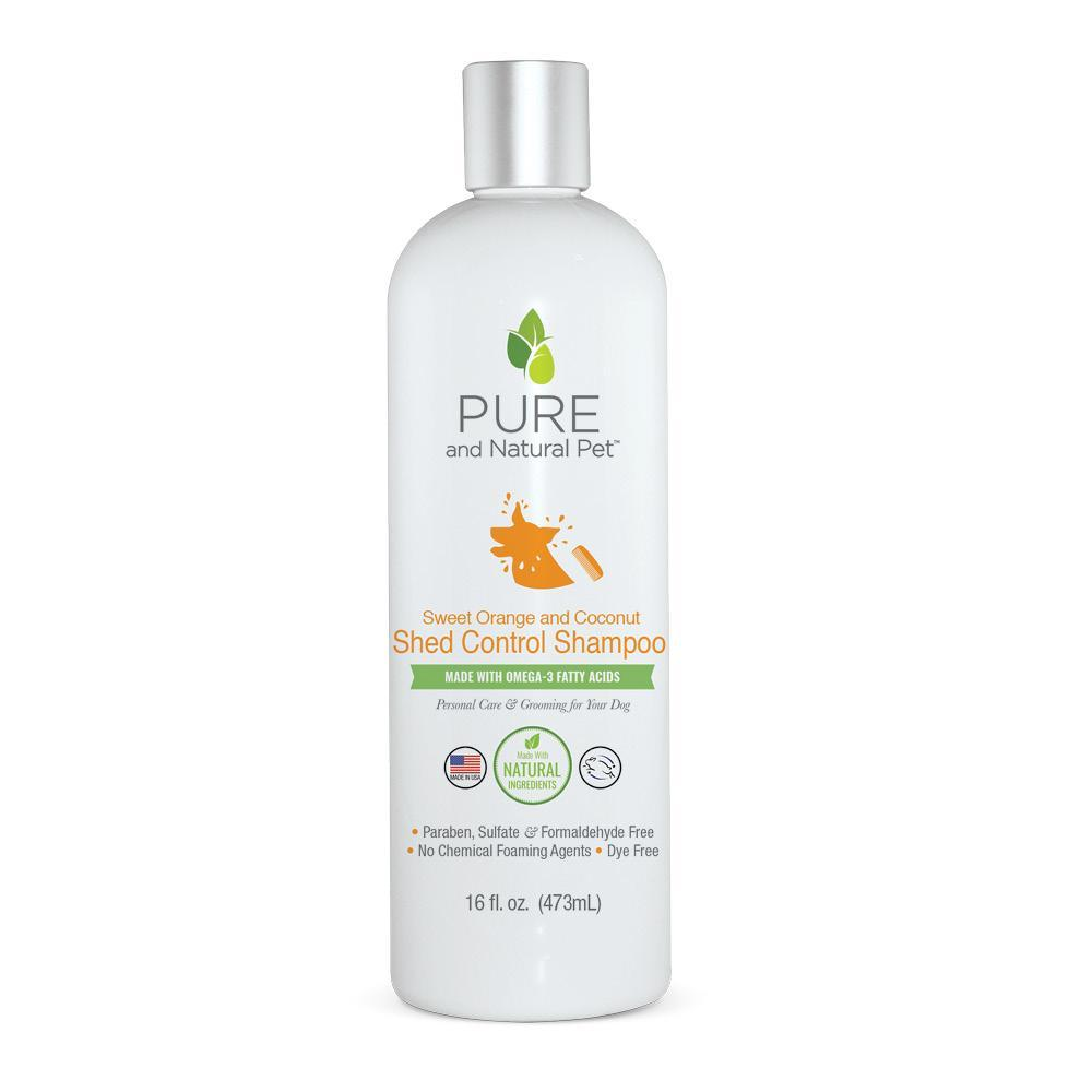 Pure and Natural Pet Sweet Orange & Coconut Shed Control Shampoo for Dogs, 16-oz