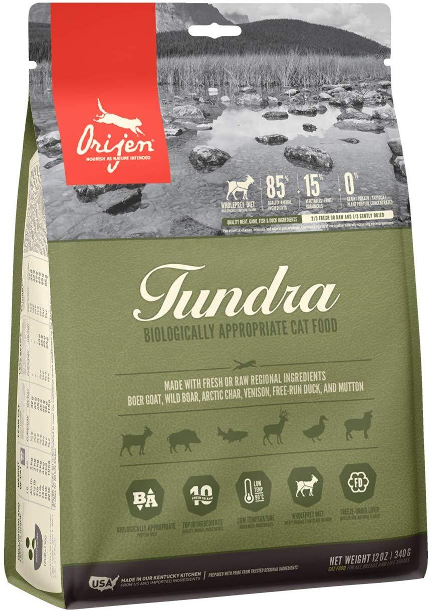 Orijen Tundra Biologically Appropriate Cat Dry Food, 12-oz Bag