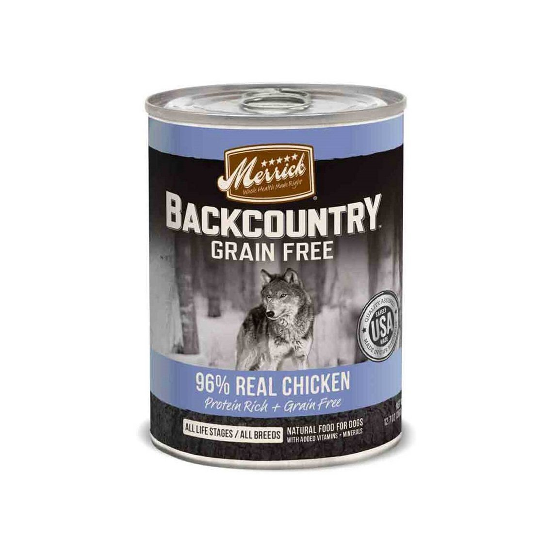 Merrick Backcountry Grain-Free 96% Real Chicken Recipe Canned Dog Food Image