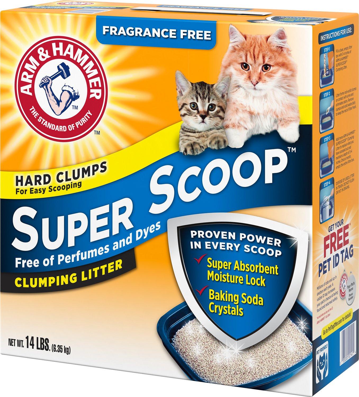 Arm & Hammer Litter Super Scoop Fragrance-Free Clumping Litter, 14-lb box