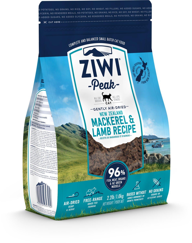 ZIWI Peak Air-Dried Cat Food Mackerel & Lamb Recipe, 2.2-lb 1-kg