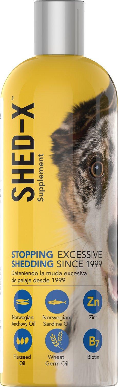 Shed-X Dermaplex Shed Control Nutritional Supplement for Dogs, 16-oz bottle