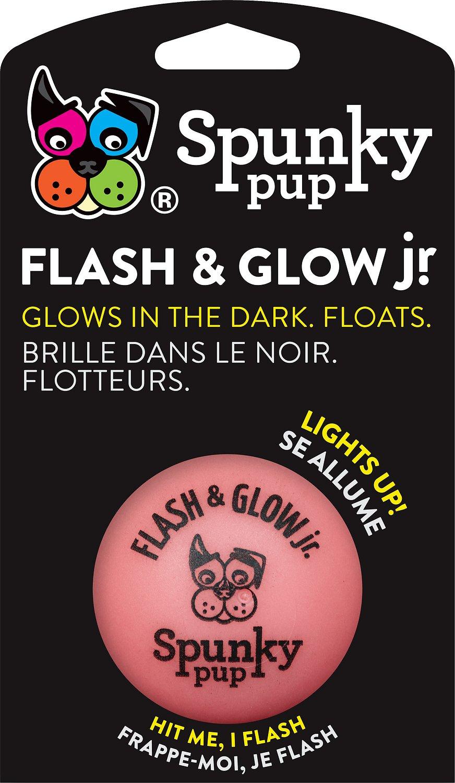 Spunky Pup Flash & Glow Ball Jr. Dog Toy