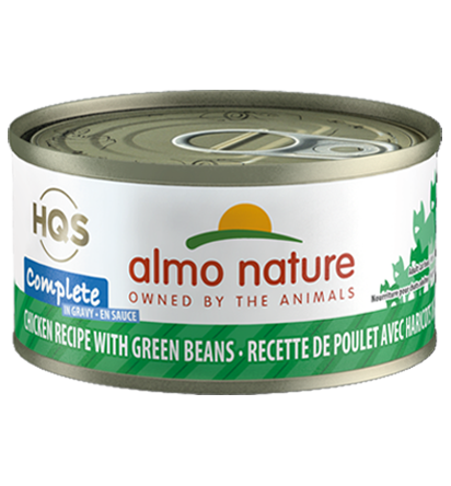 Almo Nature HQS Complete Chicken Recipe with Green Beans in Gravy Grain-Free Wet Cat Food Image