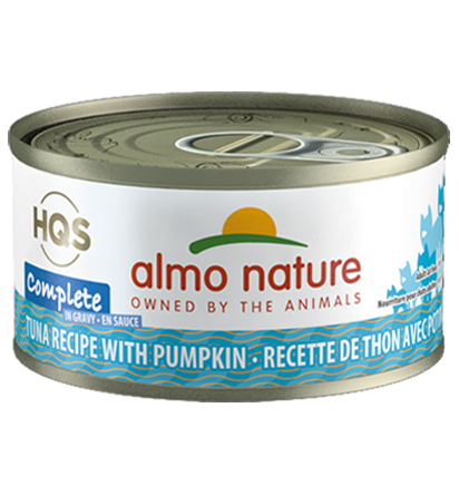 Almo Nature HQS Complete Tuna Recipe with Pumpkin in Gravy Grain-Free Wet Cat Food, 2.47-oz