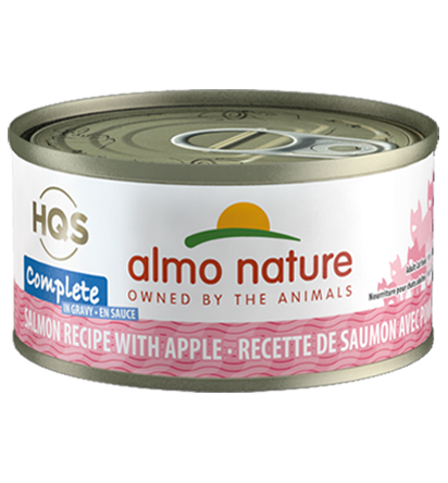 Almo Nature HQS Complete Salmon Recipe with Apples in Gravy Grain-Free Wet Cat Food, 2.47-oz