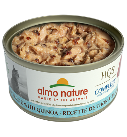 Almo Nature HQS Complete Tuna with Quinoa in Gravy Wet Cat Food, 2.47-oz